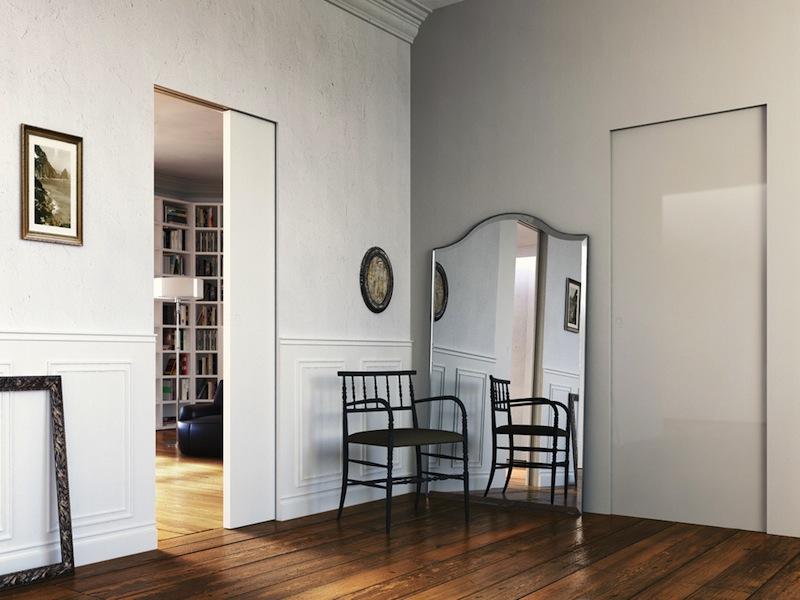 L 39 invisibile porte a totale filo muro fratelli bertonelli - L invisibile porte ...