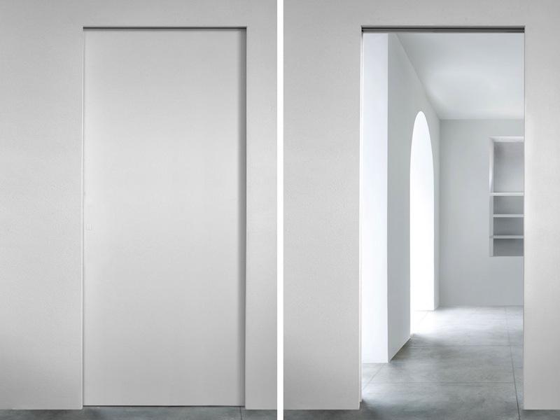 L invisibile porte semplice e comfort in una casa di - L invisibile porte a scomparsa ...